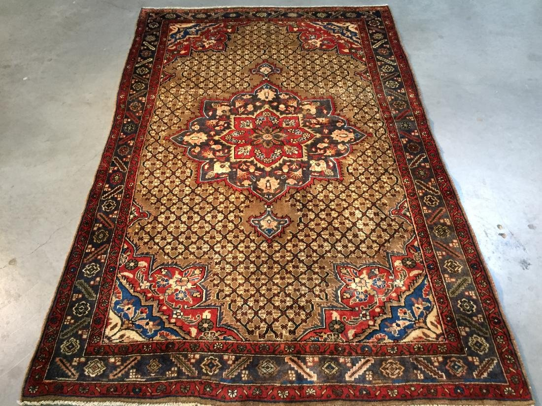 MAGNIFICENT  HAND KNOTTED AUTH PERSIAN RUG 5.4x8.5