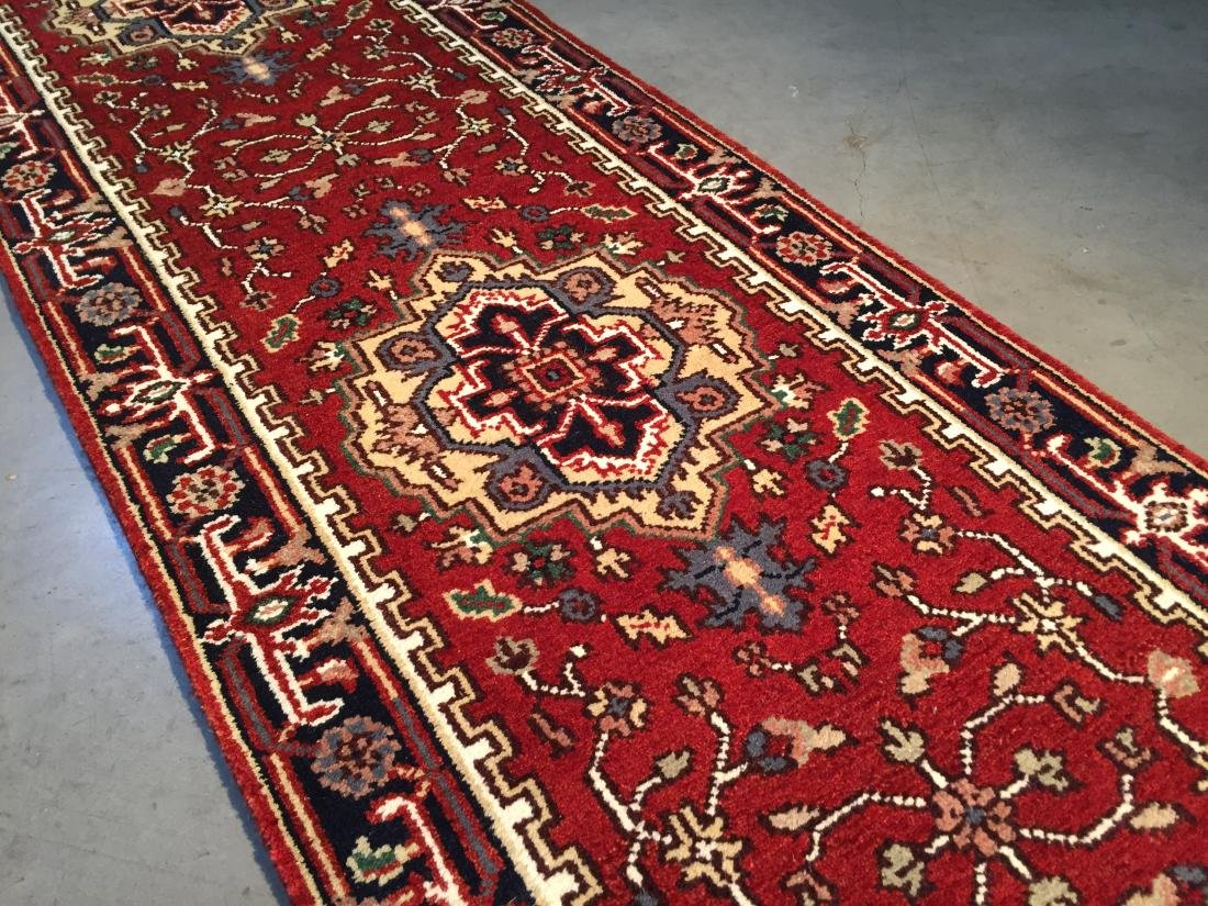 "MAGNIFICENT HAND-KNOTTED ""SERAPI""  WOOL RUNNER 2.6X20' - 2"