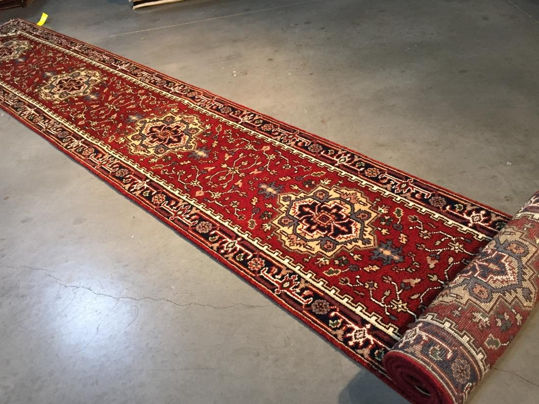 """MAGNIFICENT HAND-KNOTTED """"SERAPI""""  WOOL RUNNER 2.6X20' - 7"""