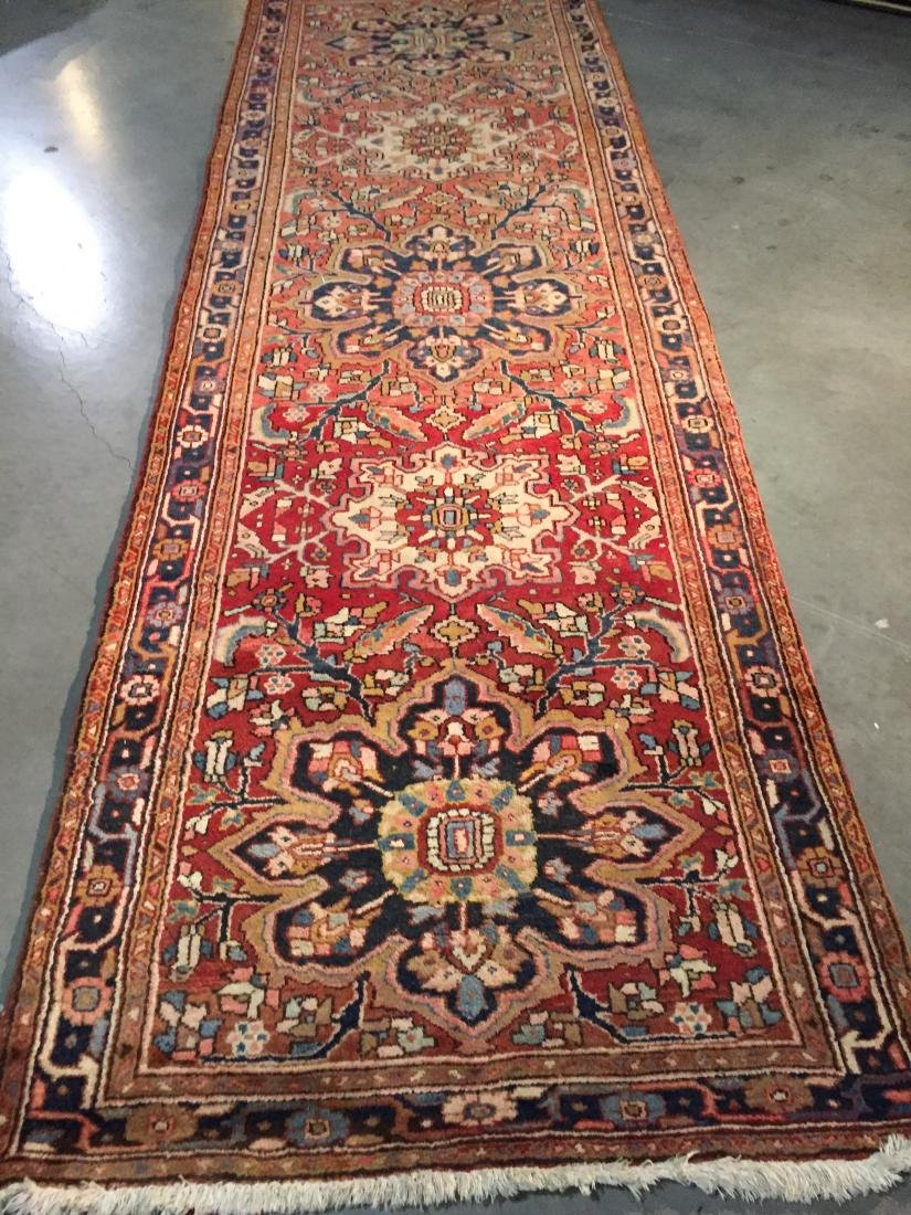 SEMI ANTIQUE PERSIAN HERIZ RUNNER 4x12