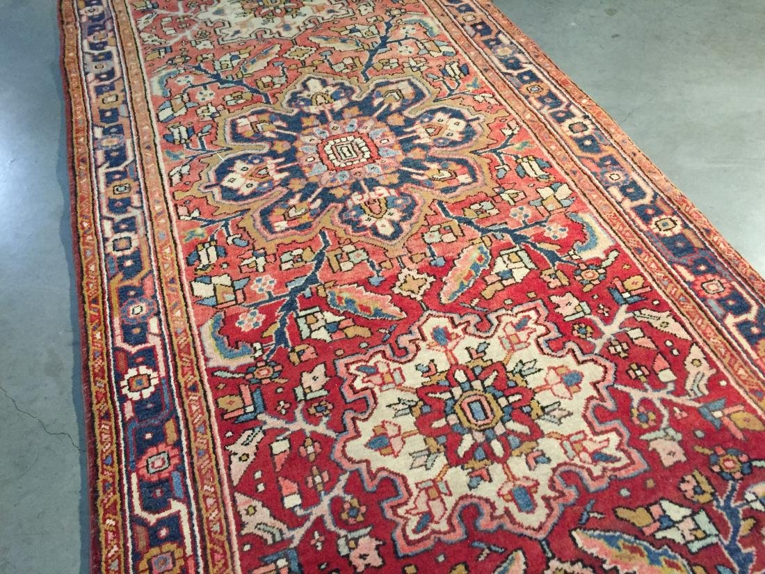SEMI ANTIQUE PERSIAN HERIZ RUNNER 4x12 - 3