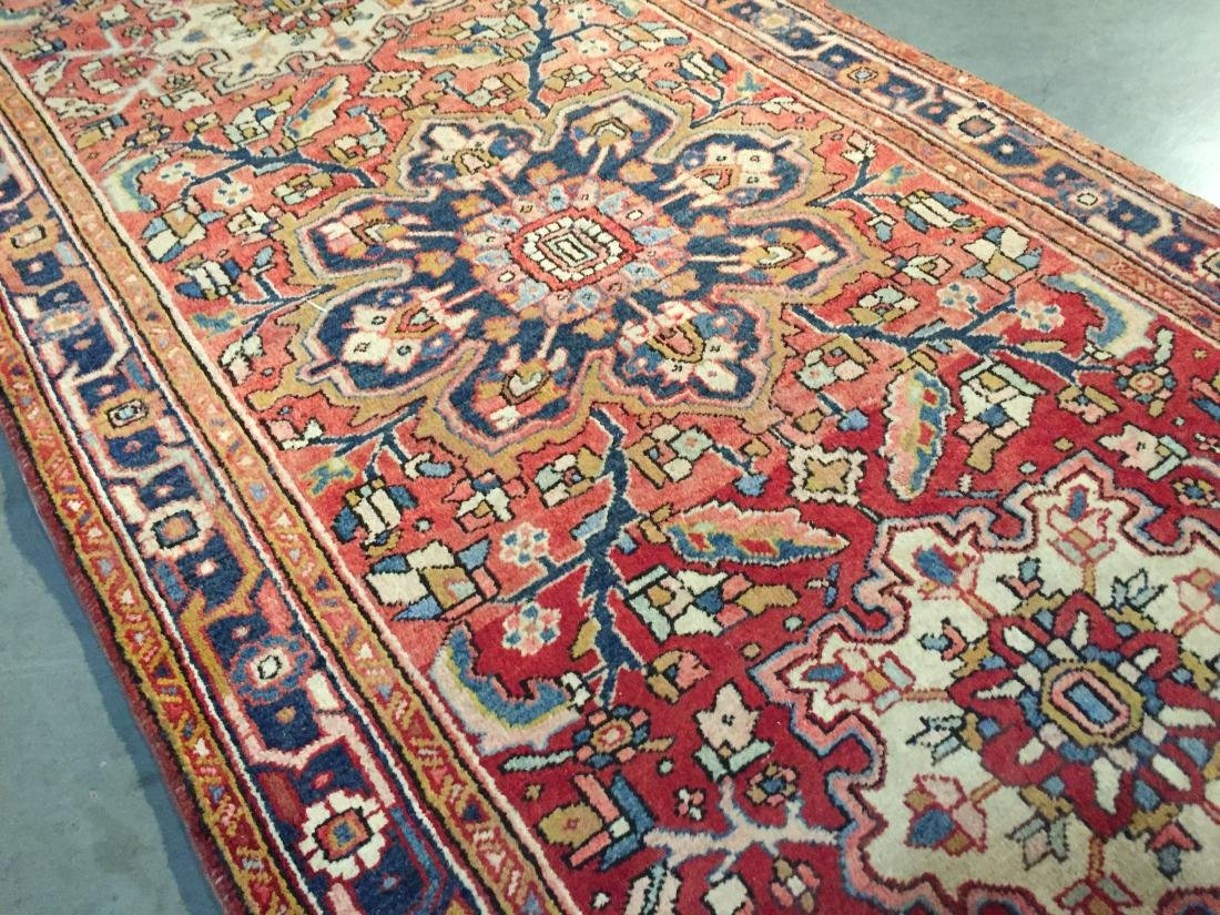 SEMI ANTIQUE PERSIAN HERIZ RUNNER 4x12 - 5