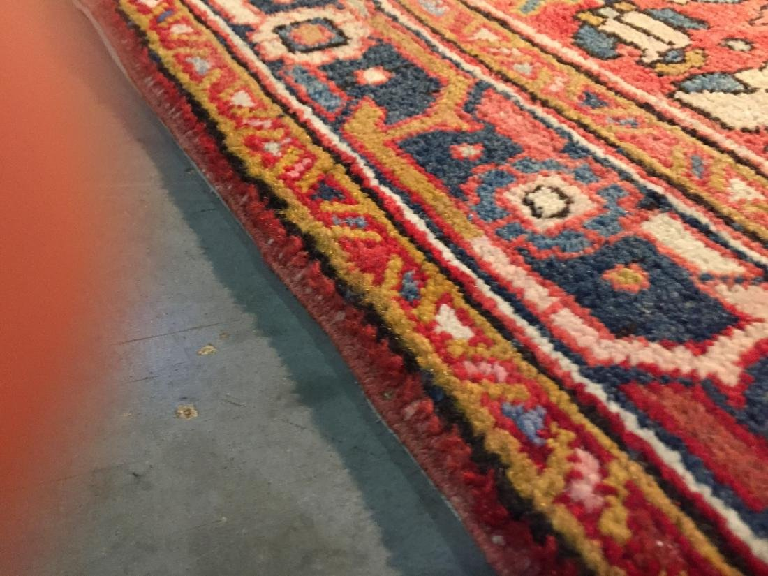 SEMI ANTIQUE PERSIAN HERIZ RUNNER 4x12 - 6