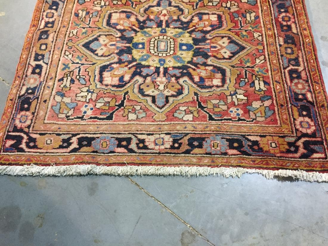 SEMI ANTIQUE PERSIAN HERIZ RUNNER 4x12 - 7