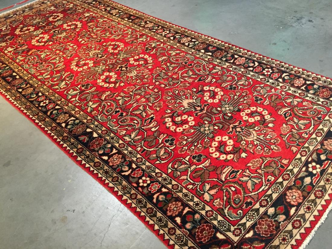 Tribal Persian Hamedan rug 5 x 11 - 2