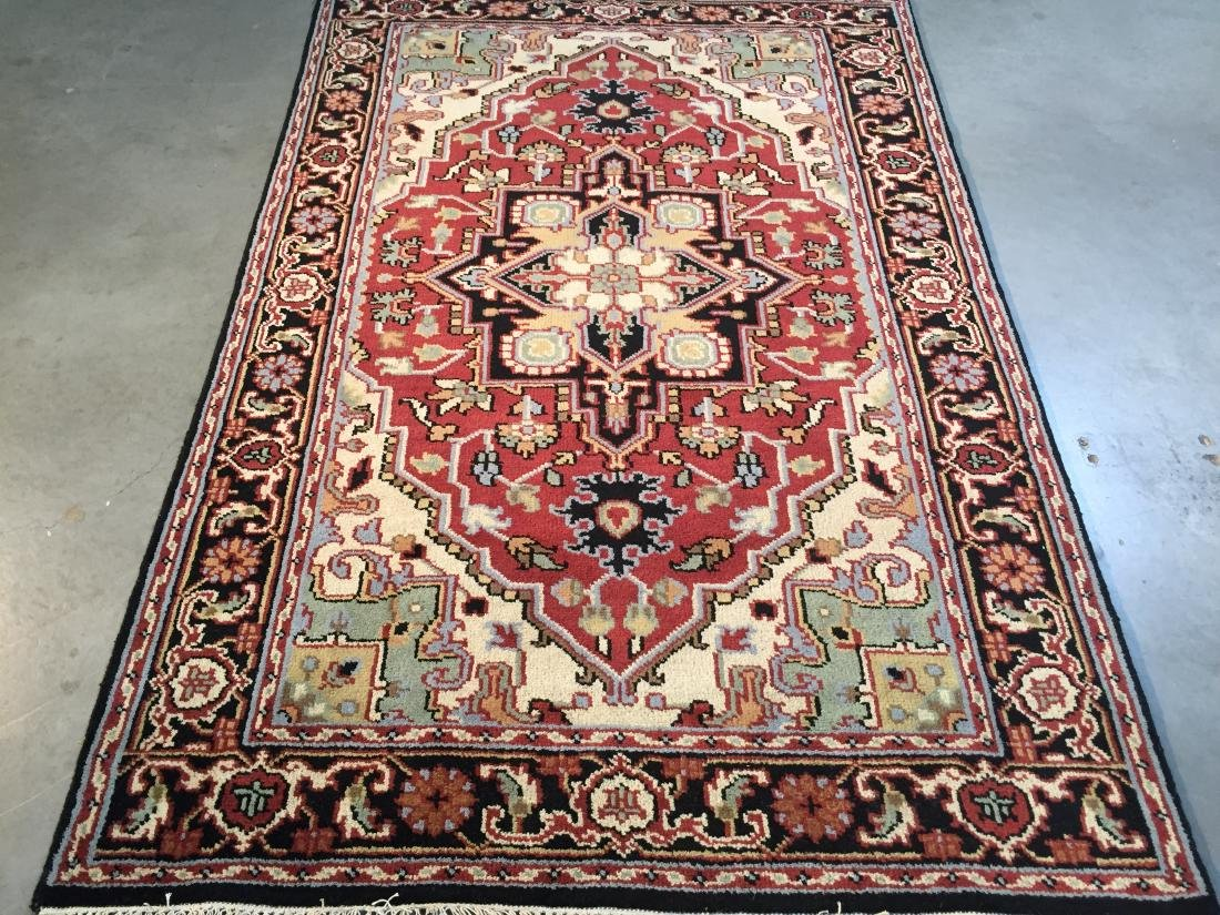 "MAGNIFICENT HAND-KNOTTED ""SERAPI""  WOOL RUNNER 5' x 8"