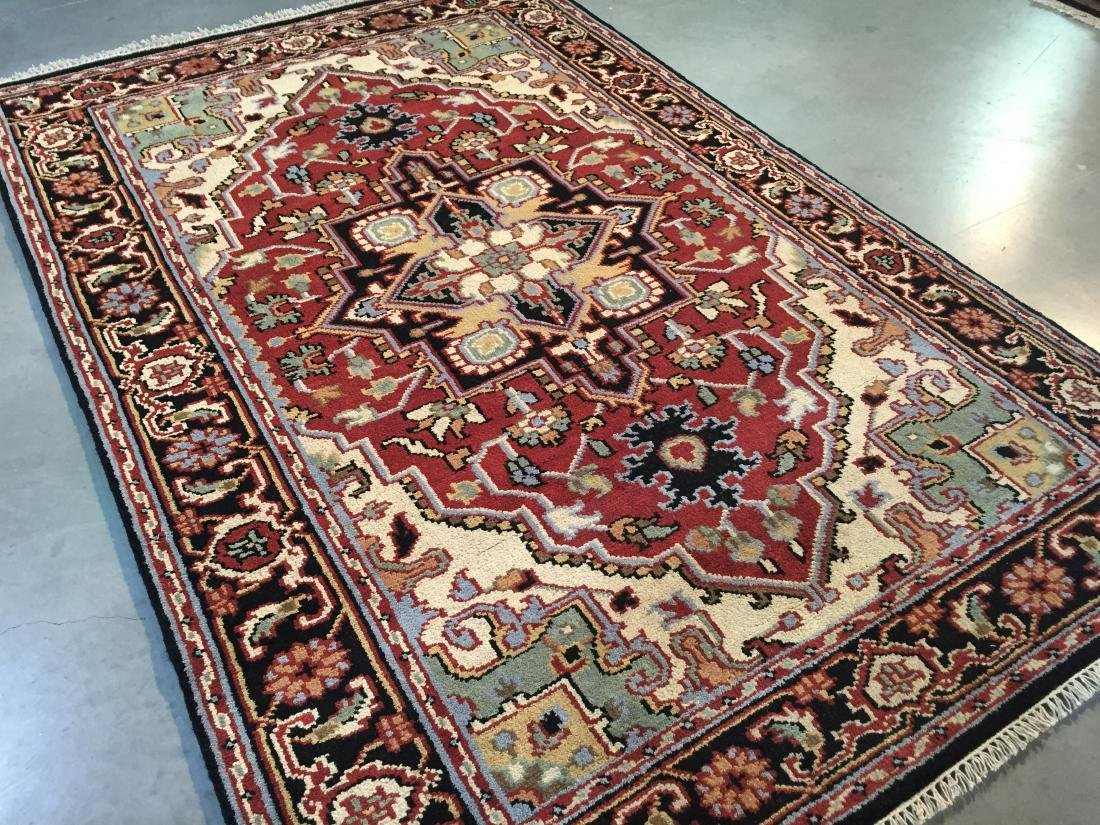 "MAGNIFICENT HAND-KNOTTED ""SERAPI""  WOOL RUNNER 5' x 8 - 2"