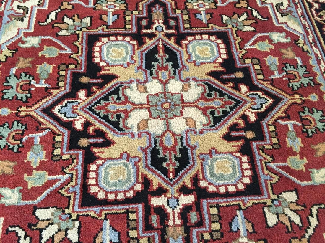 "MAGNIFICENT HAND-KNOTTED ""SERAPI""  WOOL RUNNER 5' x 8 - 3"