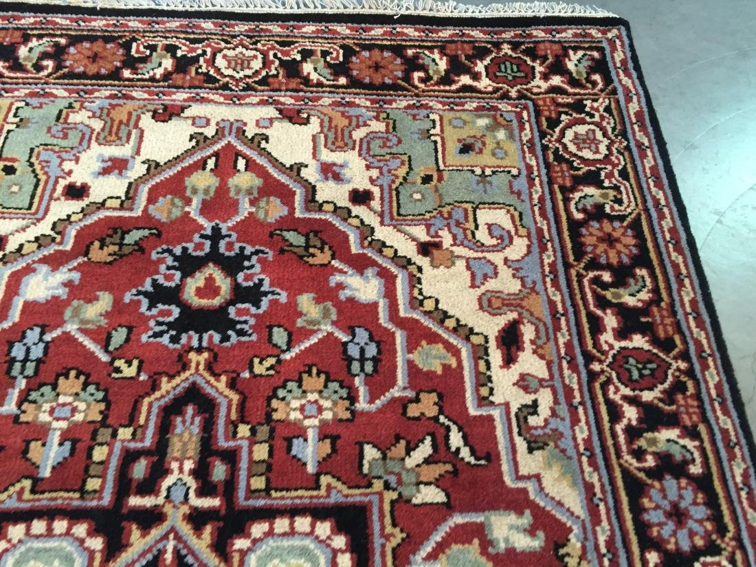 "MAGNIFICENT HAND-KNOTTED ""SERAPI""  WOOL RUNNER 5' x 8 - 4"