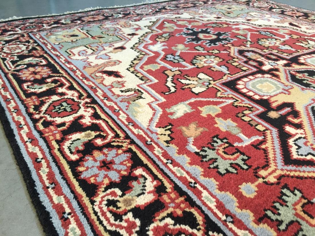 "MAGNIFICENT HAND-KNOTTED ""SERAPI""  WOOL RUNNER 5' x 8 - 6"