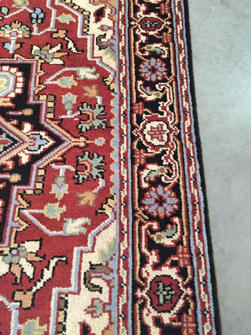 "MAGNIFICENT HAND-KNOTTED ""SERAPI""  WOOL RUNNER 5' x 8 - 7"