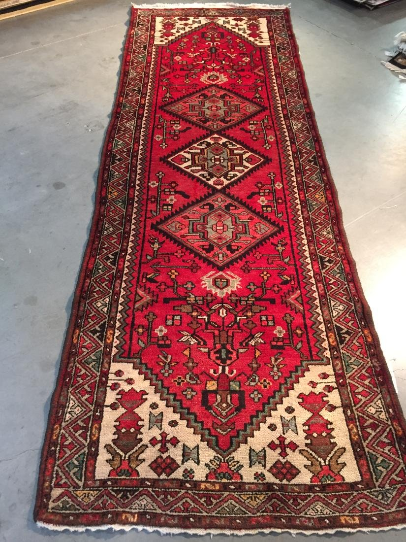 AUTHENTIC HAND KNOTTED PERSIAN HAMADAN RUNNER 3x10