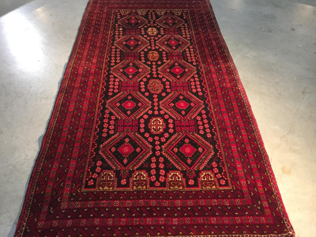 AUTHENTIC HAND KNOTTED PERSIAN TRIBAL RUG 3.7x7.0