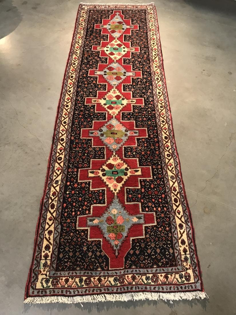 AUTHENTIC HAND KNOTTED PERSIAN RUNNER 3x10