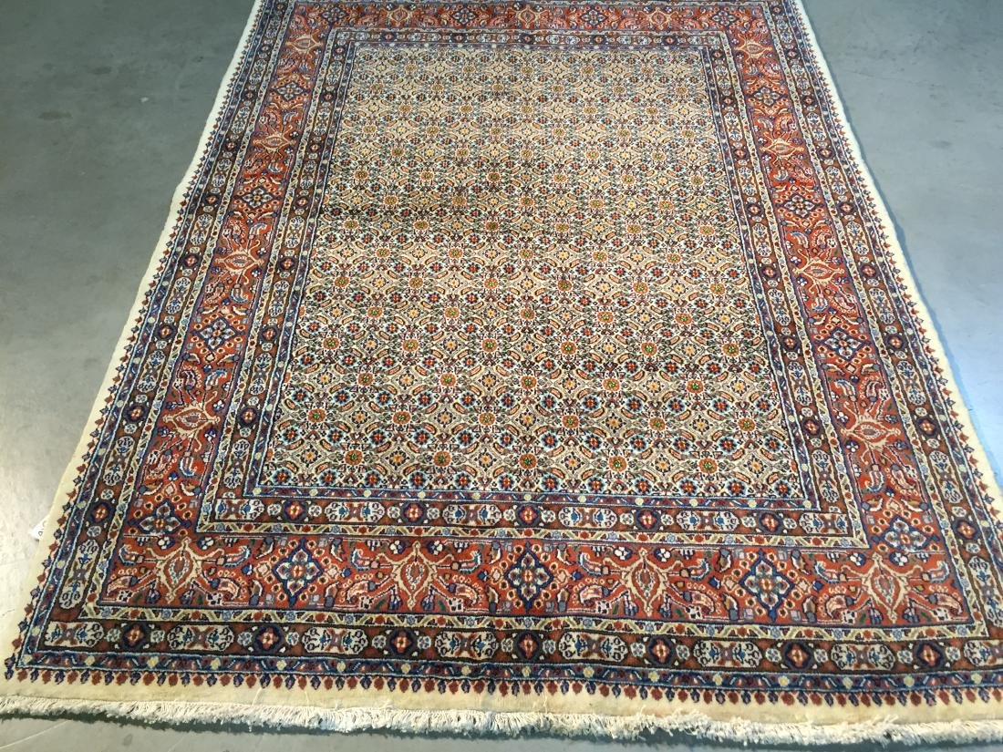 AUTHENTIC,FINE PERSIAN HAND KNOTTED WOOL RUG 5x7