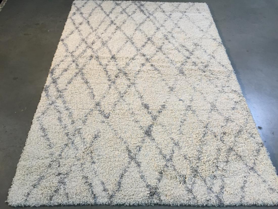 Neutral Designer shag rug 5x8