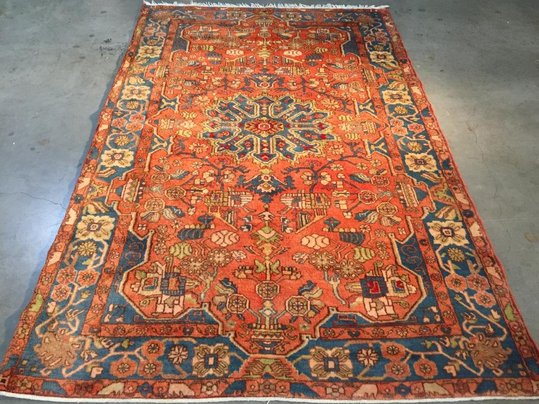 AUTHENTIC HAND KNOTTED PERSIAN SEMI ANTIQUE RUG 5x7