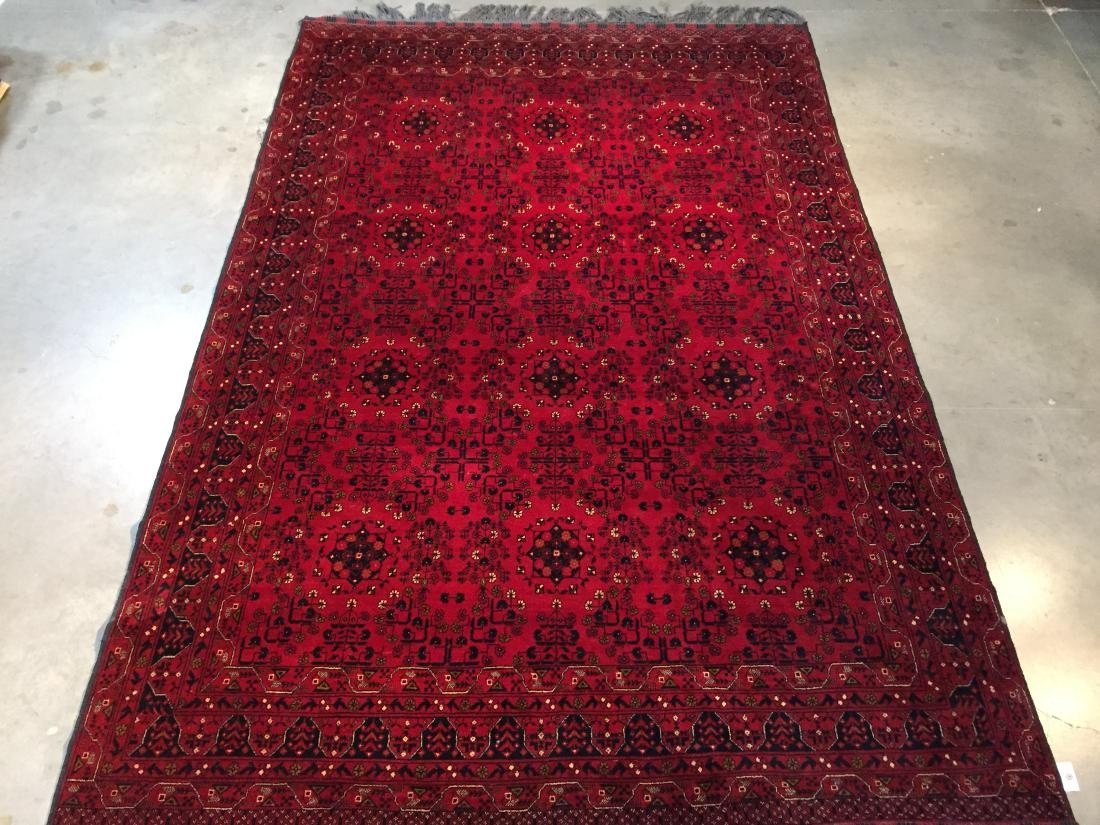 FINE AUTHENTIC HAND KNOTTED AFGHAN RUG 7x10