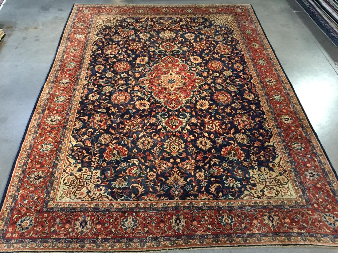 "EXQUISITE ANTIQUE PERSIAN SAROUK RUG 9'.0""x12'.2"""