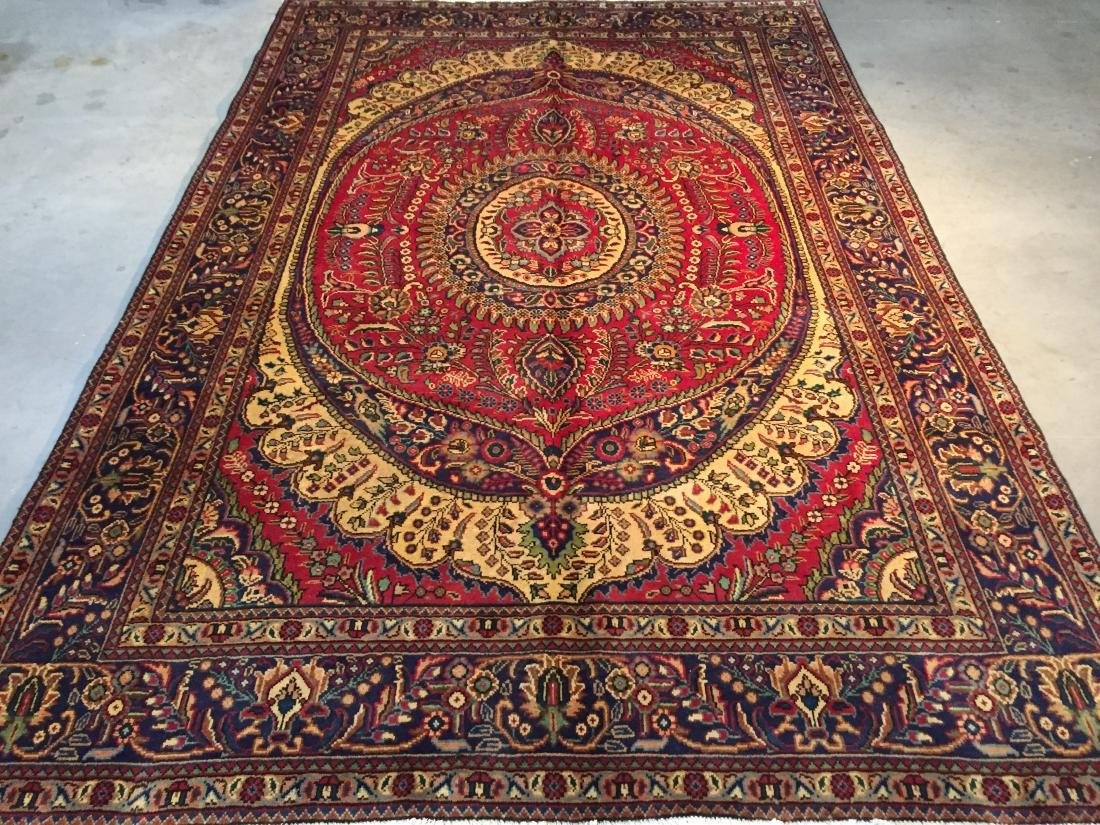 STUNNING AUTHENTIC PERSIAN TABRIZ RUG 9x10