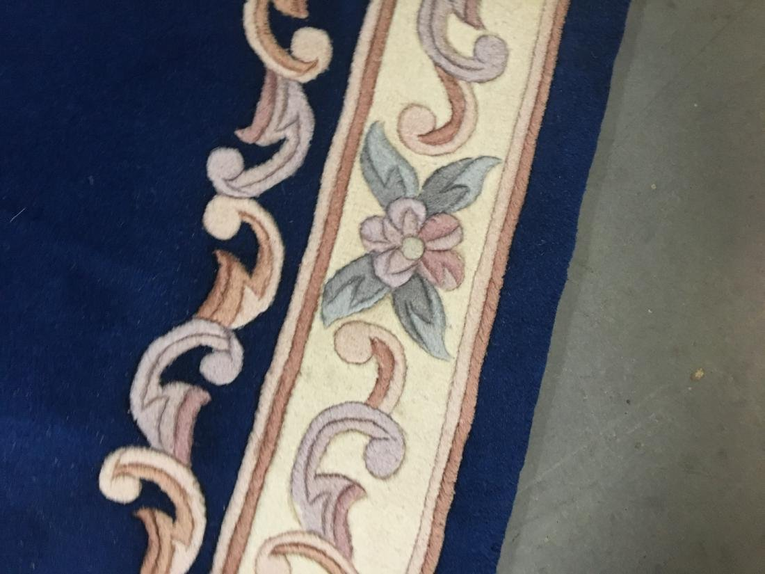 Hand Knotted Carved Peking runner 2.6x12 - 5