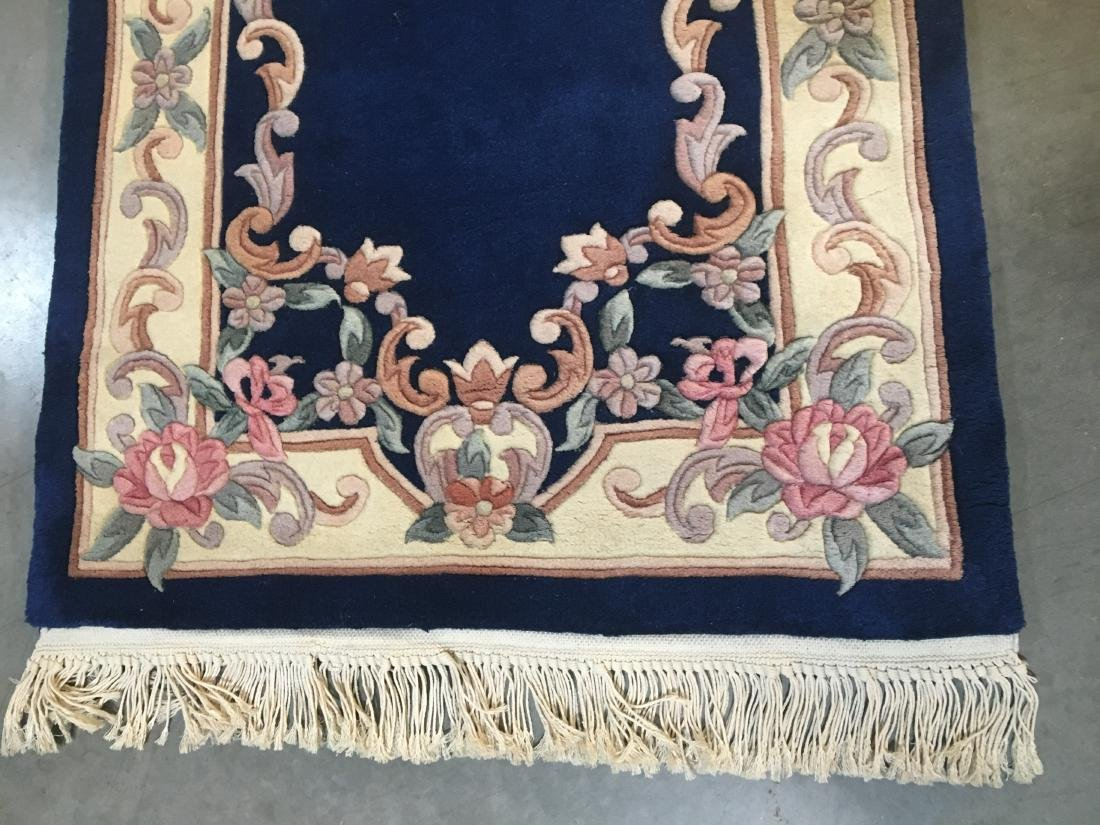Hand Knotted Carved Peking runner 2.6x12 - 6