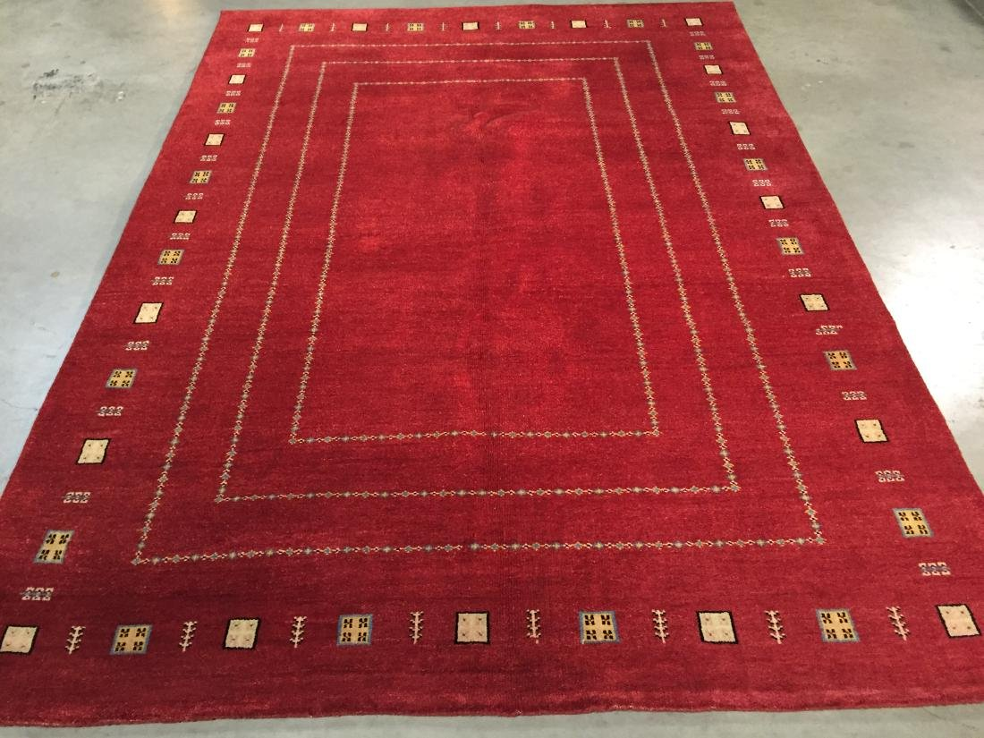"UNIQUE HAND KNOTTED WOOL ""GABBEH"" RUG 6x8"