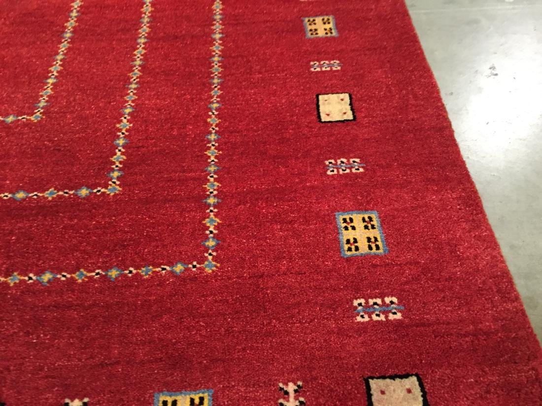"UNIQUE HAND KNOTTED WOOL ""GABBEH"" RUG 6x8 - 2"