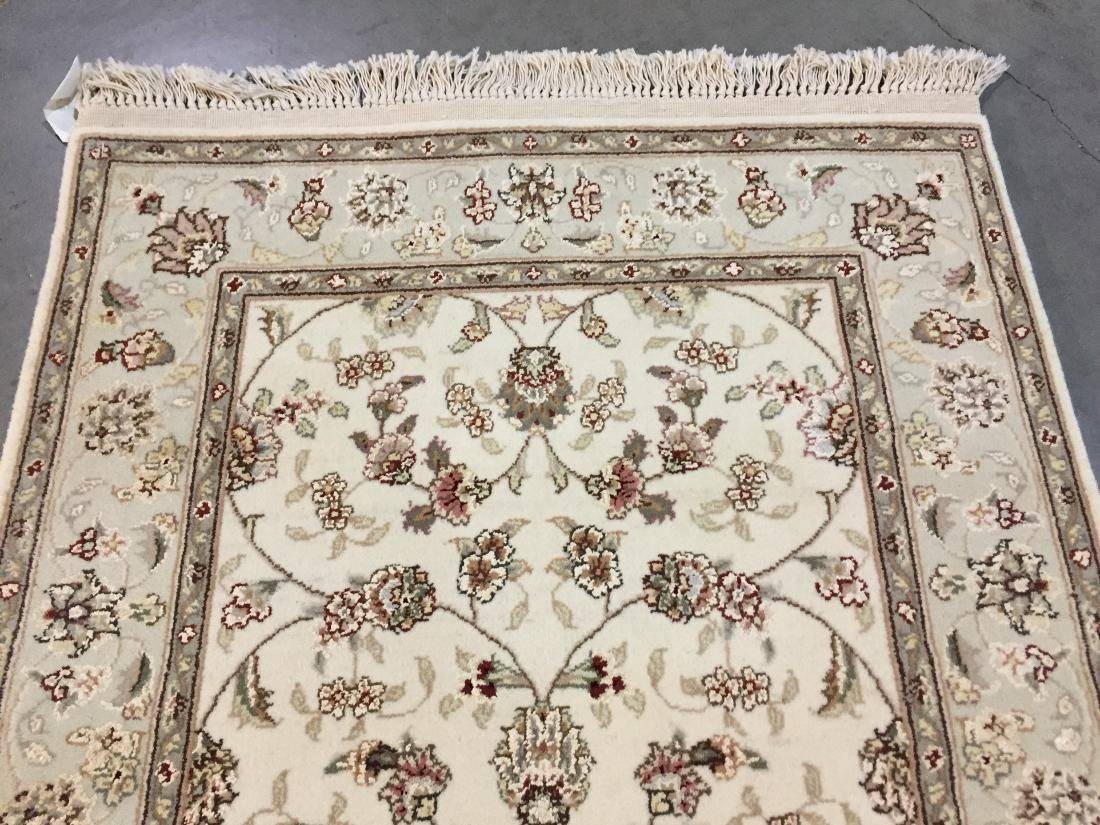 MAGNIFICENT HAND-KNOTTED TABRIZ DESIGN SILK& WOOL - 4