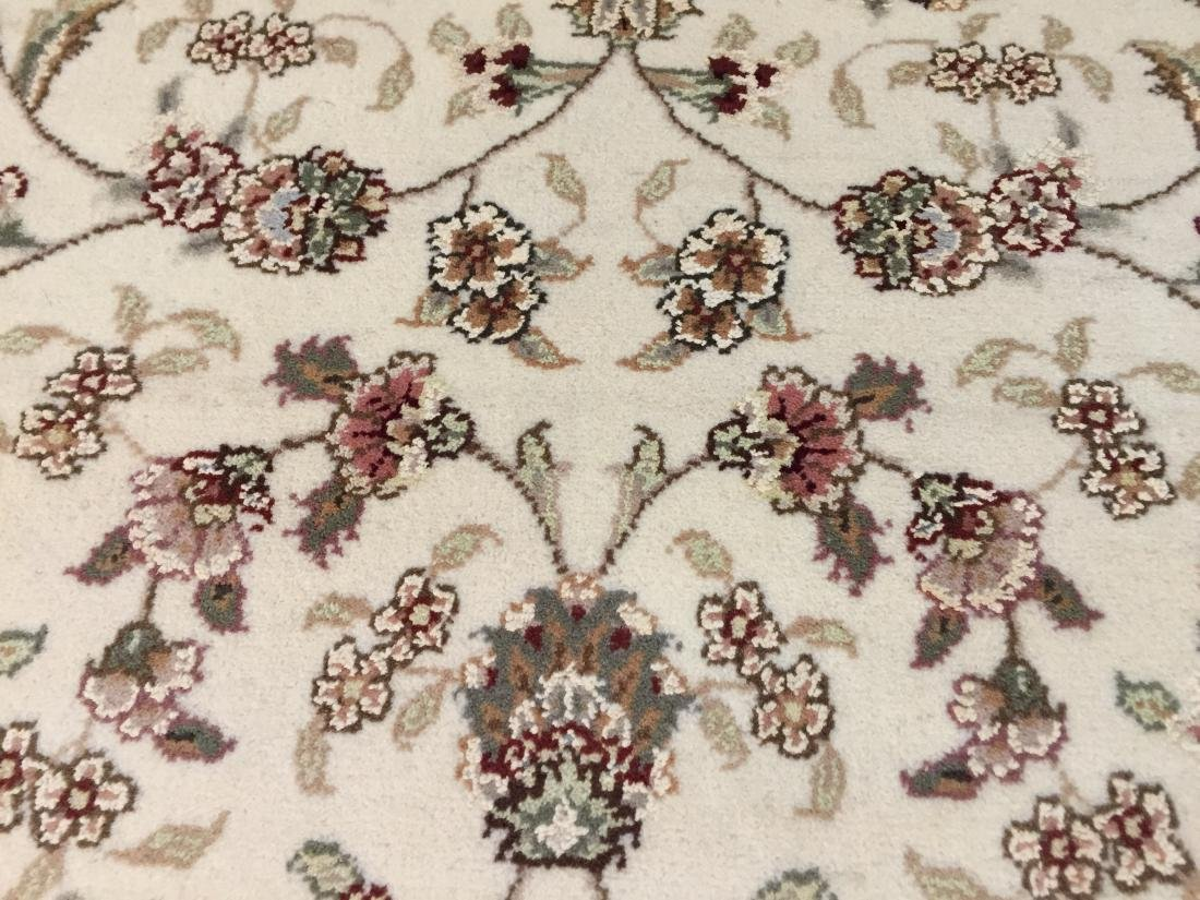 MAGNIFICENT HAND-KNOTTED TABRIZ DESIGN SILK& WOOL - 5