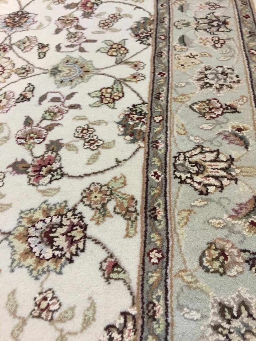 MAGNIFICENT HAND-KNOTTED TABRIZ DESIGN SILK& WOOL - 6