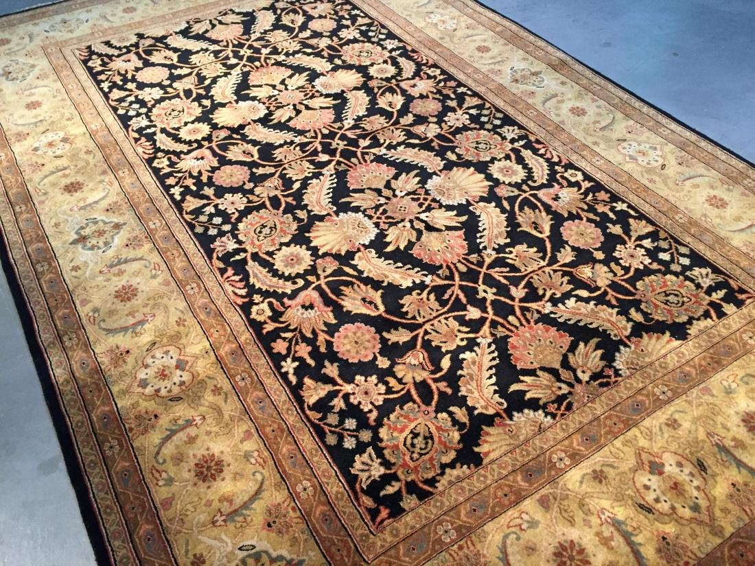 FINE ANTIQUE REPRODUCTION WOOL RUG 8x10 - 2