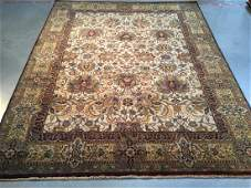 FINE HAND KNOTTED WOOL AGRA AREA RUG 9x12