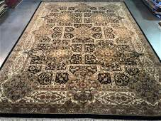 FINE HAND KNOTTED WOOL AGRA AREA RUG 10x14