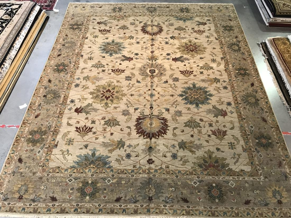 OVER SIZE FINE  HAND KNOTTED MAHAL DESIGN RUG 12x15