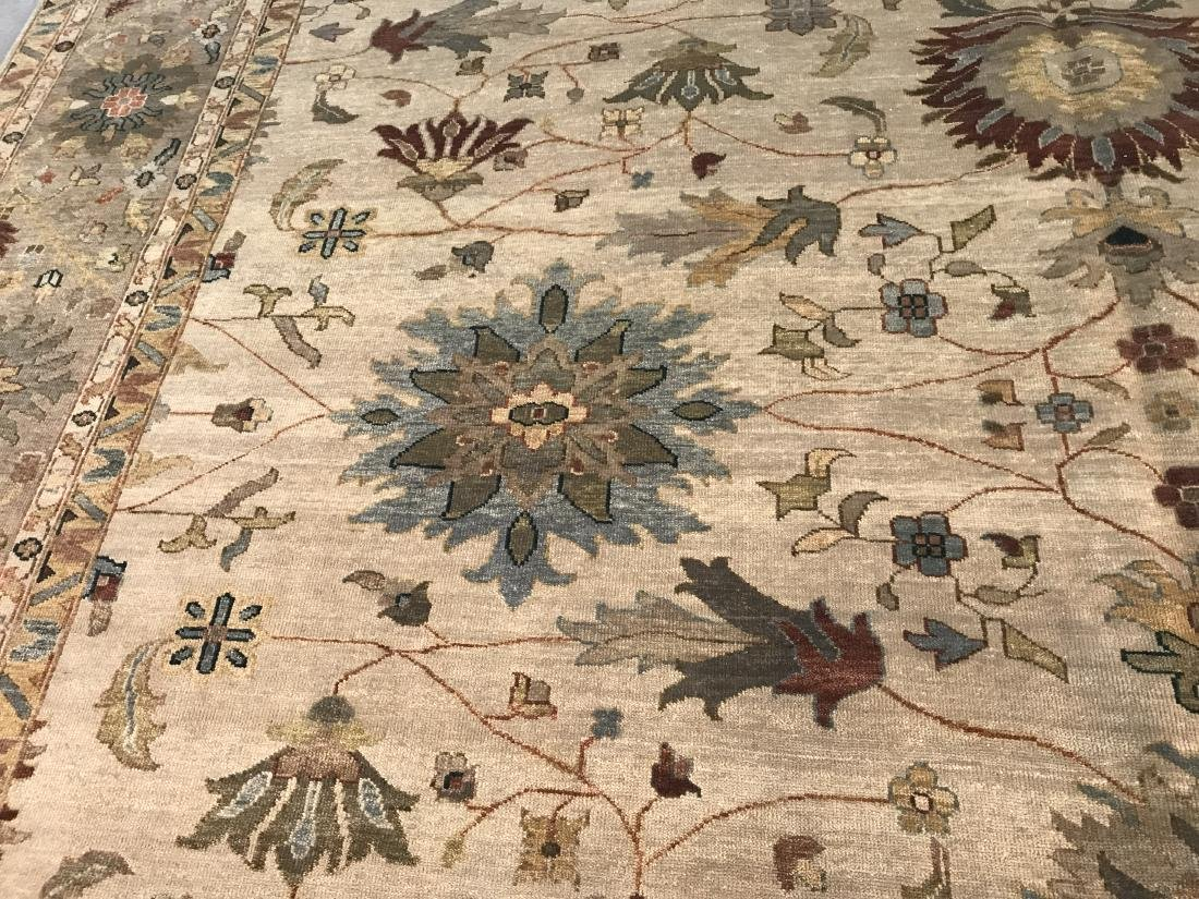 OVER SIZE FINE  HAND KNOTTED MAHAL DESIGN RUG 12x15 - 3