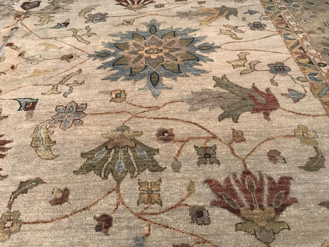 OVER SIZE FINE  HAND KNOTTED MAHAL DESIGN RUG 12x15 - 4