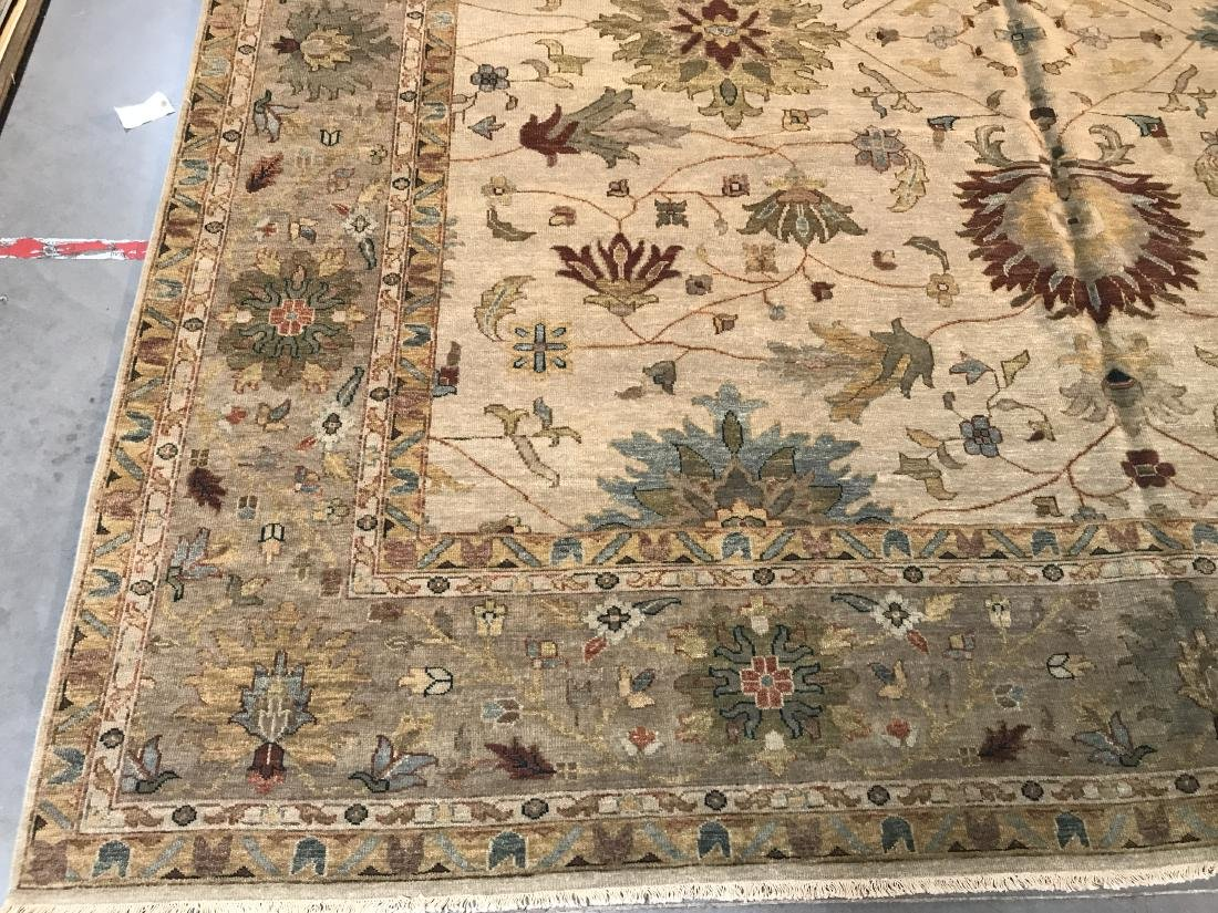 OVER SIZE FINE  HAND KNOTTED MAHAL DESIGN RUG 12x15 - 6