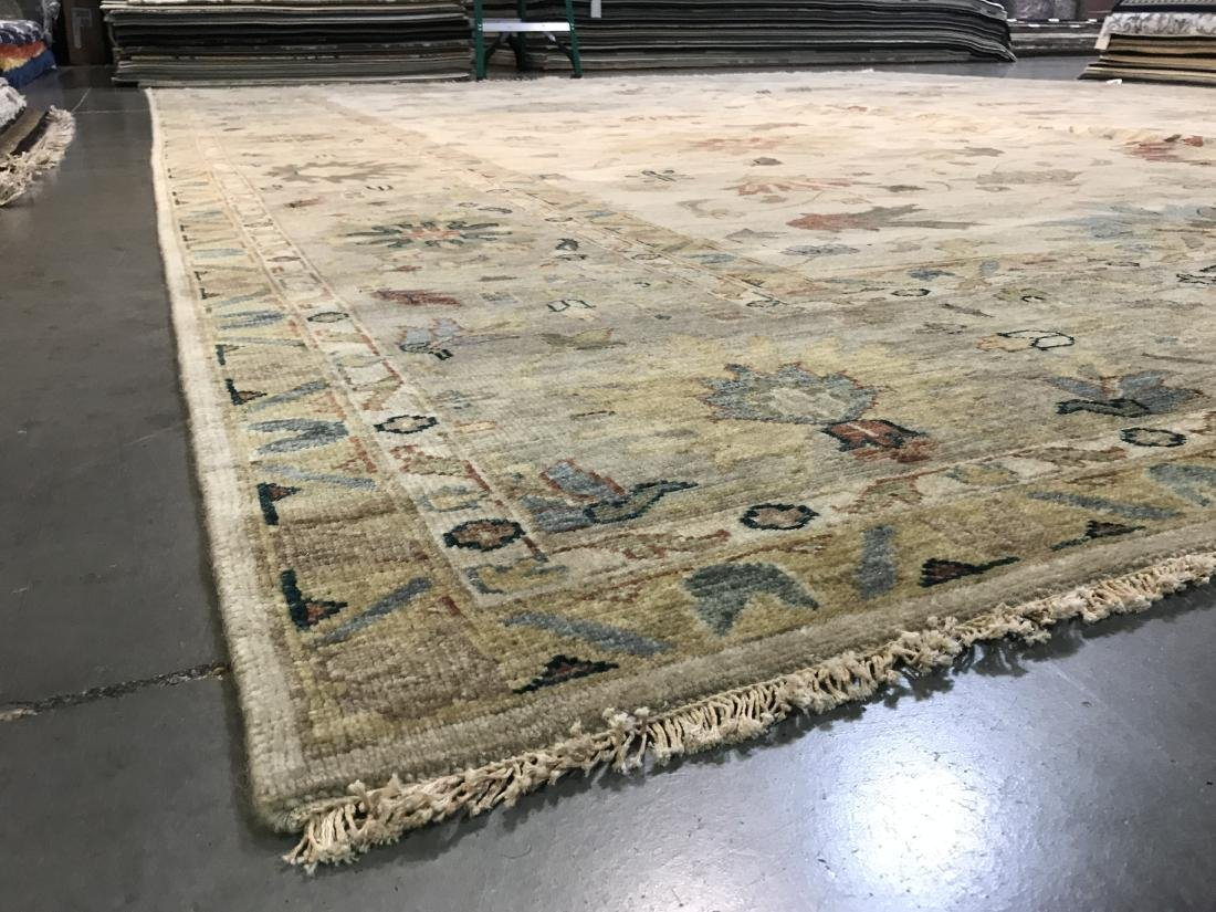OVER SIZE FINE  HAND KNOTTED MAHAL DESIGN RUG 12x15 - 7