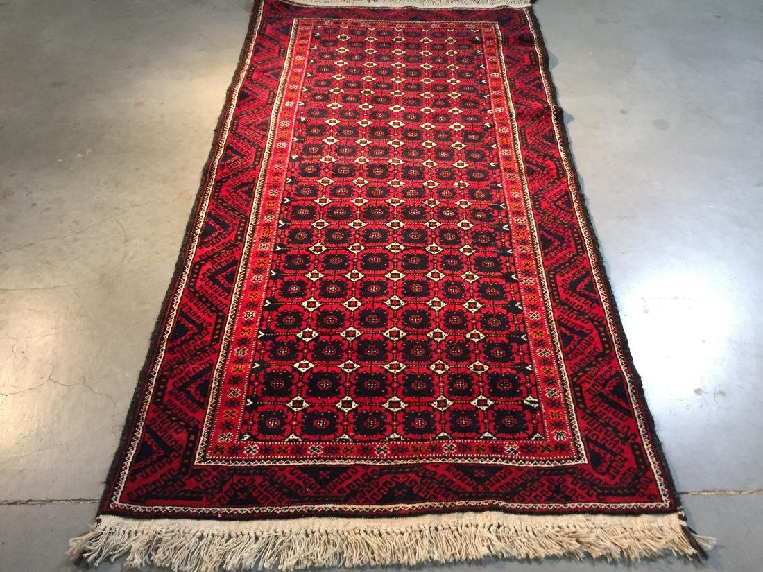 HAND KNOTTED PERSIAN  RUG 3.7x7 - 3