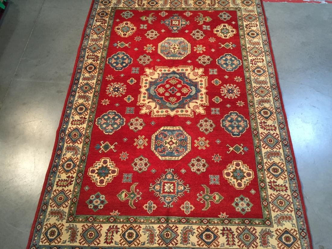 AUTHENTIC HAND KNOTTED WOOL SUPER KAZAK 6.2x9