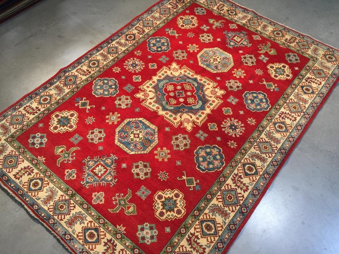 AUTHENTIC HAND KNOTTED WOOL SUPER KAZAK 6.2x9 - 2