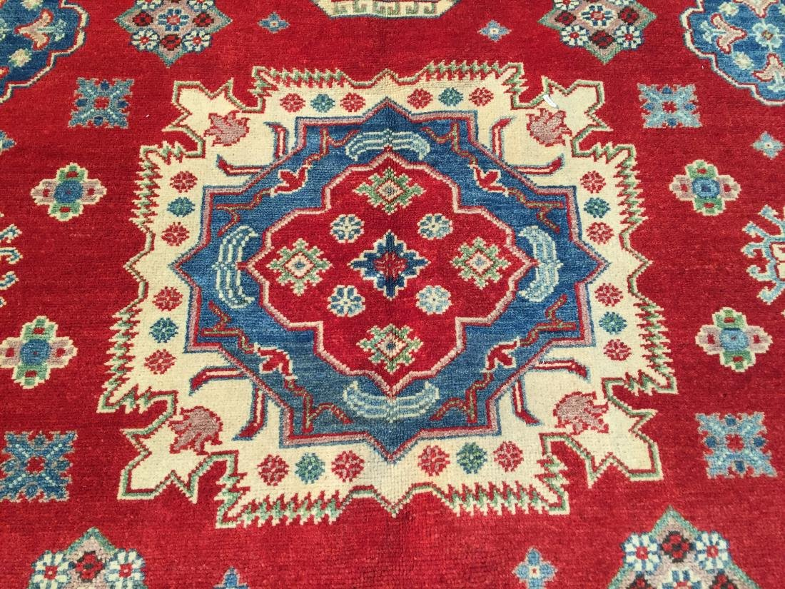 AUTHENTIC HAND KNOTTED WOOL SUPER KAZAK 6.2x9 - 3