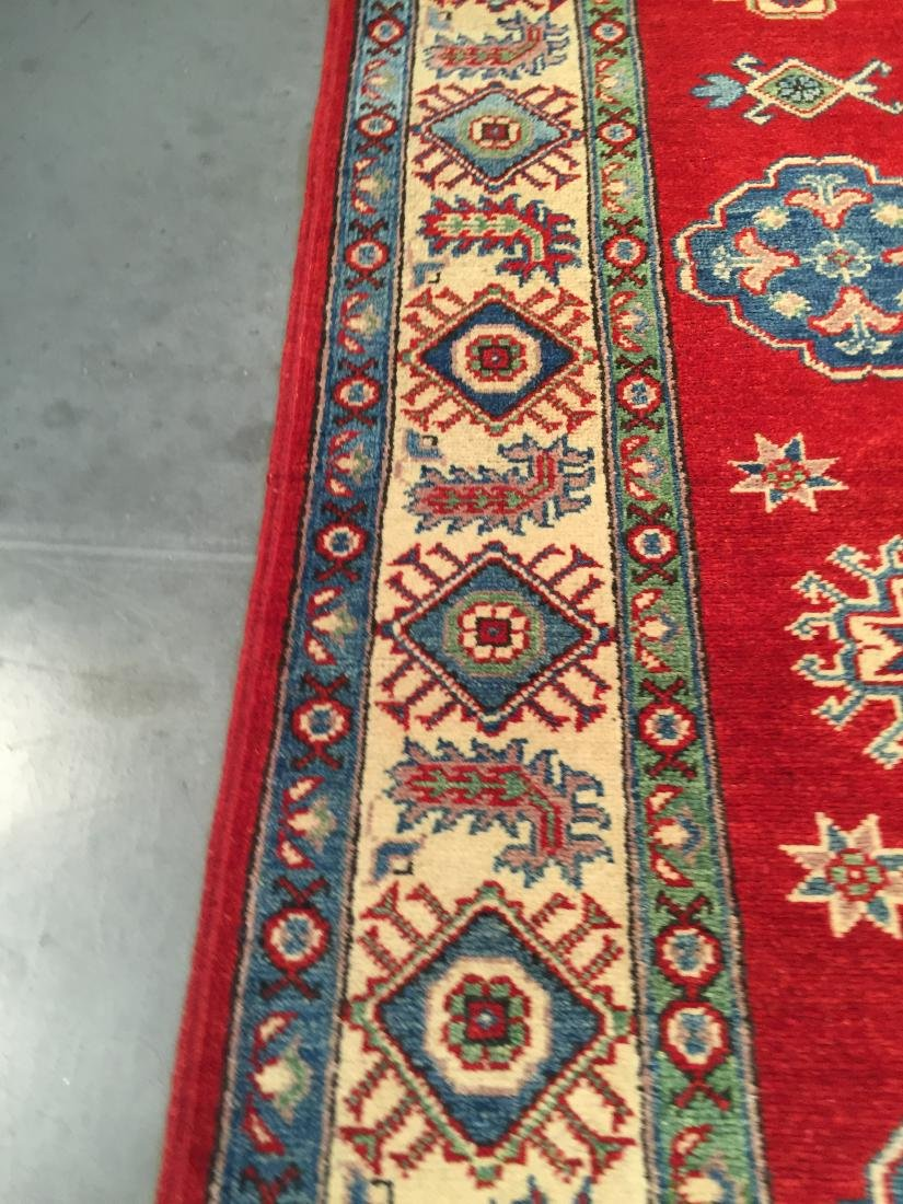 AUTHENTIC HAND KNOTTED WOOL SUPER KAZAK 6.2x9 - 4