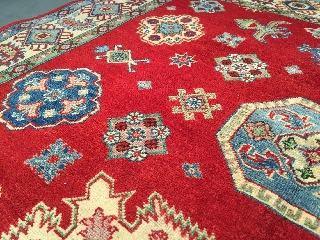 AUTHENTIC HAND KNOTTED WOOL SUPER KAZAK 6.2x9 - 5