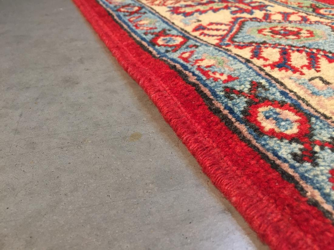 AUTHENTIC HAND KNOTTED WOOL SUPER KAZAK 6.2x9 - 6