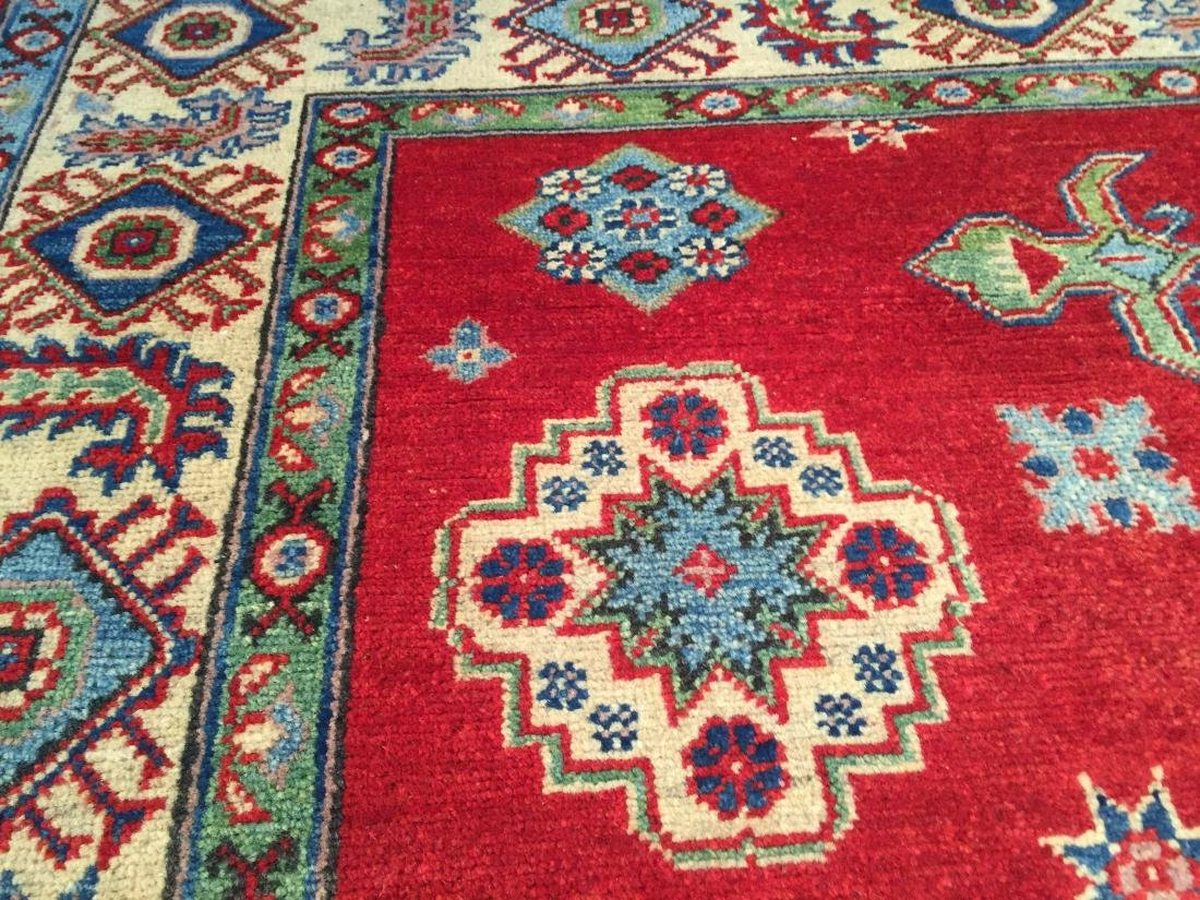 AUTHENTIC HAND KNOTTED WOOL SUPER KAZAK 6.2x9 - 7
