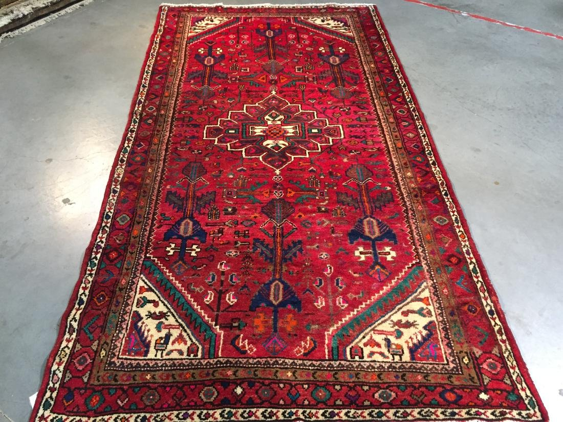AUTHENTIC HAND KNOTTED PERSIAN HAMEDAN RUG 5x9