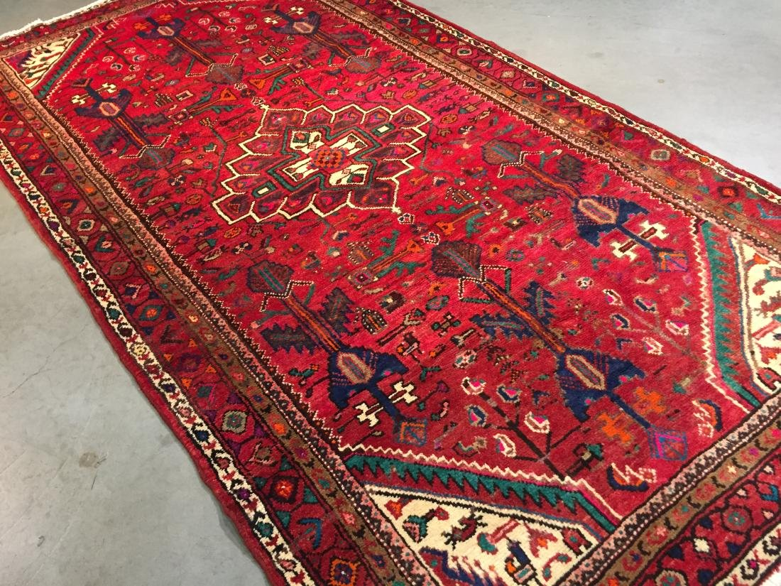 AUTHENTIC HAND KNOTTED PERSIAN HAMEDAN RUG 5x9 - 2