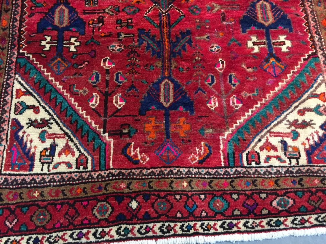 AUTHENTIC HAND KNOTTED PERSIAN HAMEDAN RUG 5x9 - 3